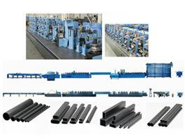 Welded carbon steel pipe mill line